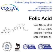 Contiene material de suplemento dietético de ácido fólico