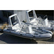 casco de fibra de vidrio de lujo barco de la costilla HH-RIB680 con CE