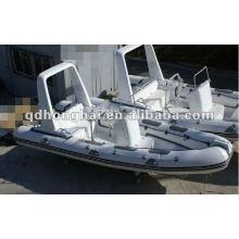 luxury fiberglass hull RIB boat HH-RIB680 with CE