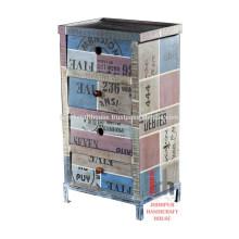 Recycling-Holz 4 Schubladen Schlafzimmer Schrank