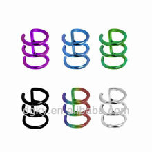 surgical steel Non-pierce Cartilage Earrings Jewelry Captive Bead Rings
