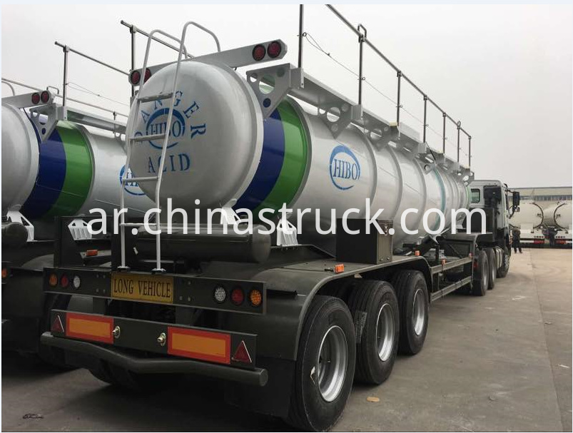 V shape concentrated sulfuric acid tank trailer