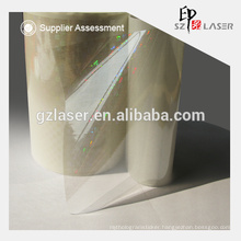 Hologram transparent think pet film with 12 micron thickness