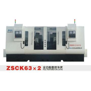 ZHAOSHAN ZSCK63 * 2 torno máquina CNC máquina de torno máquina preço barato