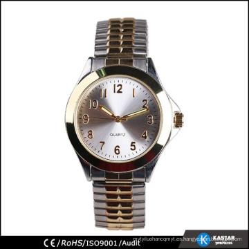 Reloj de correa de expansión de dos tonos