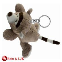 High quality custom plush animal keychain