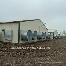 Casa prefabricada de aves de corral para una moderna granja ganadera
