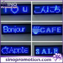 Insigne portatif d'identification d'étiquette de nom d'affichage de sein de LED