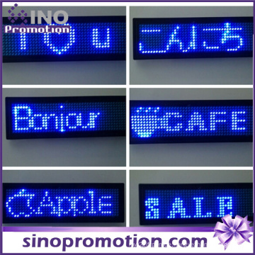 Portable LED Brust Display Name Tag ID Abzeichen