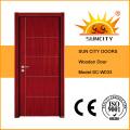 Puertas interiores de madera de teca a ras de suelo de bajo precio (SC-W033)