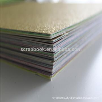 Gliter colorido brilho papelão cartolina