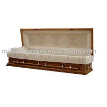 Pecan Furnier amerikanisches Holz Sarg voller couch