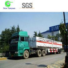 Semi-remorque à conteneur 10-Tube pour transbordeur CNG