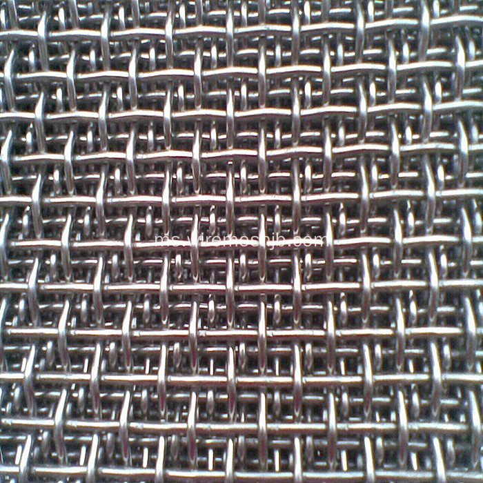 Mesh Wire Crimped Dengan Bahan Stainless Steel