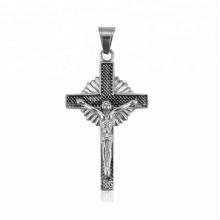 33451 xuping 2018 Dernier design de mode noir pistolet couleur élégante croix de Jésus pendentif