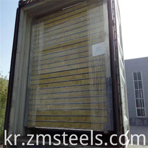 High quality Rock wool sandwich panel