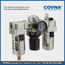 air filter regulator and pressure gauges FRL Three Combination SMC