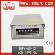 Fonte de alimentação de comutação de prova de chuva de 60 W LED 12V5a