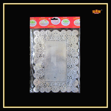 2015 Hot Selling Lace Colored Rectangle Paper Mat