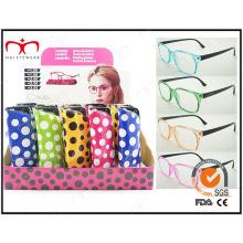 Nouvelle collection Colorful Pouch Pin Charnière Lunettes de lecture (WRP410266)