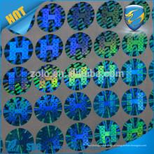 Círculo de prata adesivos personalizados / custom holgoram stickers