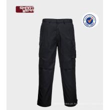Calças de carga para homem Industrial Workwear com bolsos laterais