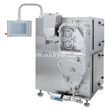 Double roller granulator machine especially for potassium chloride