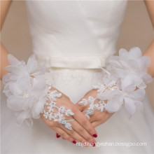 Lace appliques bridal accessories high quality lace decoration wedding lace glove