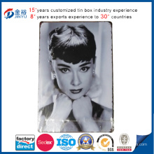 Wholesale Rectangle Marilyn Monroe Printed Tin Sign