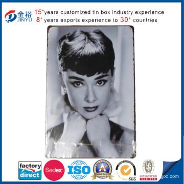 Wholesale Rectangle Marilyn Monroe Printed Tin Sign