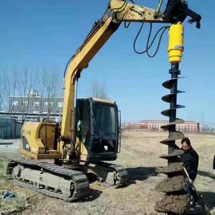 Excavator Attachment hydraulic Earth Drill