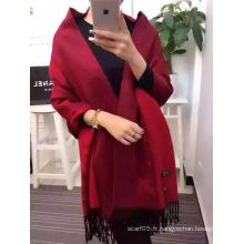 Echarpe en laine de couleur unie