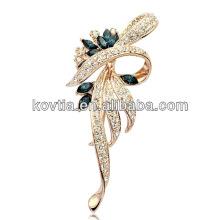 Full diamante jóias de alta qualidade broches atacado