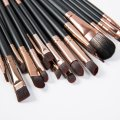 20PCS Private Label Makeup Brush with Black Handle Gold Ferrule