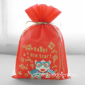 Lion Dance Red Happy New Year Gift Bags