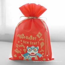 Presente vermelho do ano novo feliz da dança de le bolsas para compras