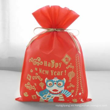 Bolsas de regalo de Lion Dance Red Happy New Year