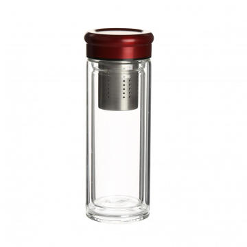 Eco-friendly glass water bottle with 304 stainless filter