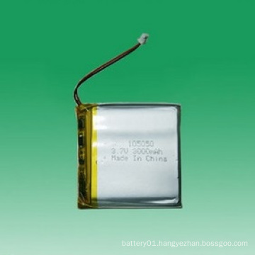 Small 3000mAh Rechargeable 3.7V Li-Polymer Battery 105050