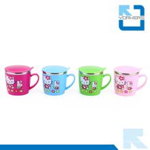 Forme d'aquarelle en acier inoxydable mignonne et tasse de lait pour enfants