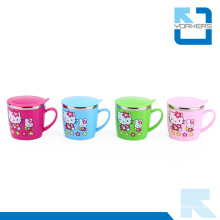 Cute Cartoon Pattern Stainless Steel Water Mug & Milk Cup for Children