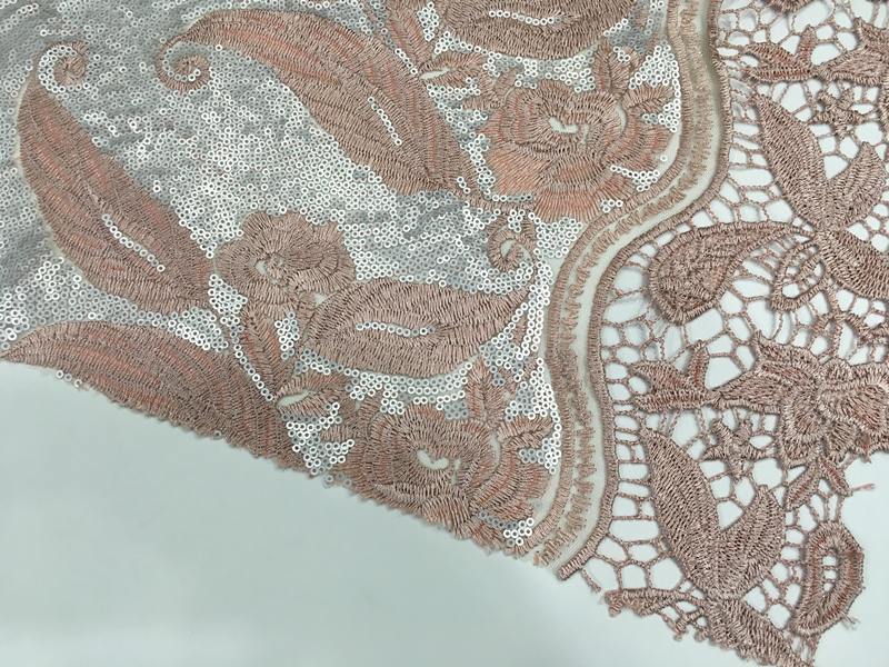 Sequin Guipure Embroidery Fabric