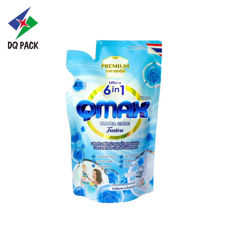 Special shape pouch liquid detergent packaging