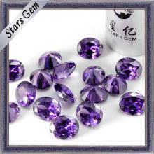 Pierres gemmes CZ brillantes Amethyst Shiny (STG-73)