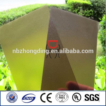 10 Jahre Garantie 100% lexan matt Polycarbonat Blatt mit UV-Schutz