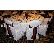 couverture de chaise de polyester 100 %, couverture de chaise de banquet