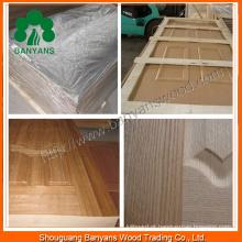 Pele da porta do folheado de madeira do folheado de melamina do fabricante de China