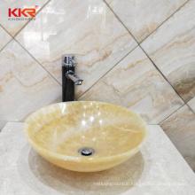Artificial stone marble stone quality bathroom countertop wash basin  artificial marble basin