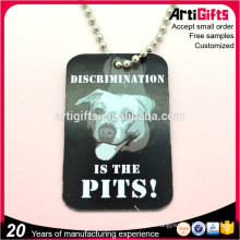 Good quality metal stamped pet neck decoration dog tags