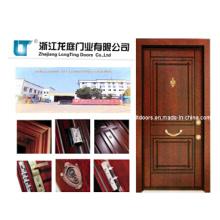 Nova turca aço de madeira porta blindada com alta qualidade